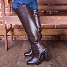 Сапоги кожаные 86489 купить за 1530 гривен в интернет-магазине Topitop.com.ua с…