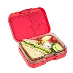 Yumbox Leakproof Bento Lunch Box Container (Tutti Frutti Blue) for Kids and Adults