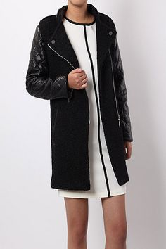 RoseandPose AW13 NEW IN Black Long Jacket