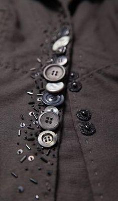 detail, Alabama Chanin - Small Beaded Anna's Garden Swing Jacket ...