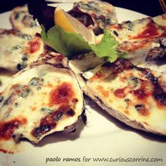 Oyster Rockefeller from Murray's New Orleans.