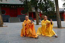 Shi DeRu and Shi DeYang.jpg. Dak Mtn. Monk Punkin' out _ Harry Christnya