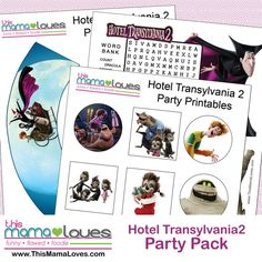 Hotel Transylvania 2 Printables & In Home Release - free cupcake wrappers, toppers, word search and mummy maze with the HotelT2 theme (sponsored)