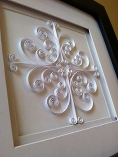 "Unique Handmade Quilled Art ""White Ironwork"" http://www.etsy.com/listing/93340115/unique-handmade-quilled-art-white?ref=sr_list_1sref=ga_search_submit=ga_search_query=quilling+artga_view_type=listga_ship_to=USga_ref=relatedga_page=1ga_search_type=handmadega_facet=handmade"