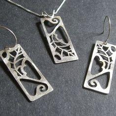 Sterling Silver Scrub Oak Set by Beth Millner, via Flickr