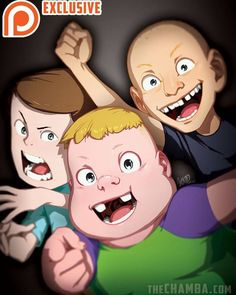 Clarence, Sumo and Jeff by theCHAMBA on DeviantArt