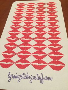 Kiss, Lips  Stickers by LyRainzStickrzNStuff on Etsy
