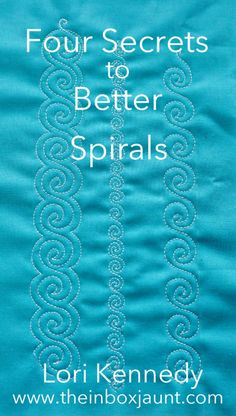 Four Secrets to Better Spirals - Lori Kennedy Quilts - Spirals, Lori Kennedy, FMQ Please feel free to check out these designs and use if available for use - Quilting Stitch Patterns, Machine Quilting Patterns, Quilt Stitching, Quilt Patterns, Top Stitching, Quilting Stencils, Longarm Quilting, Free Motion Quilting, Quilting Tips