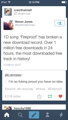 So Proud right now! Let's keep it up directioners!!!