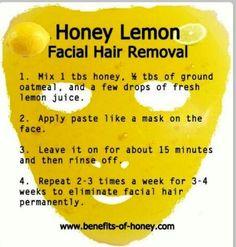 Facial hair removal.