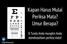 Pertanyaan Kapan Harus Mulai Untuk Periksa Mata? Berapa Sering Untuk Periksa Mata? Ini adalah masalah kesehatan yang signifikan. Menurut