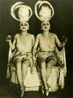 dolly sisters 1923 by Captain Geoffrey Spaulding, via Flickr