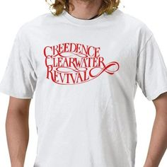 BOX'NGO - $18.99 Creedence Clearwater Revival ccr 60s 70s rock band red white t-shirt