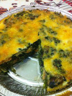 Spinach Sausage & mushroom breakfast frittata