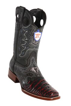 georgetowncowboyboots - Wild West  Men's Saddle Rodeo Cowboy Western Caiman Boots,Black,Cherry Black and White, $299.95 (http://www.georgetowncowboyboots.com/wild-west-mens-saddle-rodeo-cowboy-western-caiman-boots-black-cherry-black-and-white/)
