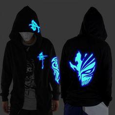 e1b5738fe705 Shuffle glow in the dark hoodie skull mask zip up sweatshirt for men