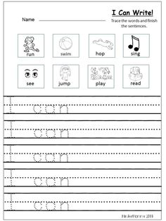 Fall writing prompts will help your students be successful in writing. These fall writing prompts are both engaging and motivating for young students. Kindergarten Writing Activities, Free Kindergarten Worksheets, Teaching Writing, In Kindergarten, Kindergarten Graduation, Preschool, Kindergarten Language Arts, Work Activities, Writing Practice