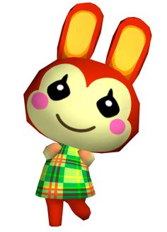 View an image titled 'Bunnie Art' in our Animal Crossing: City Folk art gallery featuring official character designs, concept art, and promo pictures. Animal Crossing Qr, Animal Crossing Amiibo Cards, Animal Crossing Wild World, Animal Crossing Villagers, Animal Crossing Pocket Camp, Fantasy Character, Game Character, Character Design, City Folk