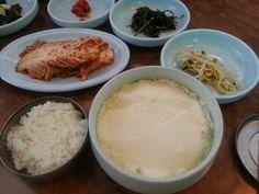 Korean traditional tofu soup