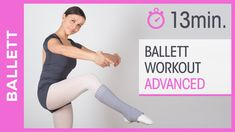 Ballet Barre Workout, Pilates Workout, Barre Workouts, Fitness Workouts, Pilates Training, Shuffle Lernen, Get Healthy, Workout Videos, Health Fitness