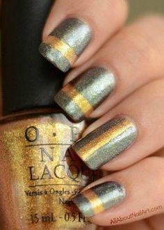 Nail Taping Tutorial – Single Stripe Fabulous Nails, Gorgeous Nails, Pretty Nails, Cute