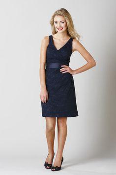 Kennedy Blue lace bridesmaid dress. Wedding Shoppe exclusive line.