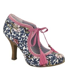 Look at this Navy & Coral Willow Lace-Up Pump on #zulily today!