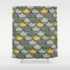 I love the Art Deco feel of this shower curtain