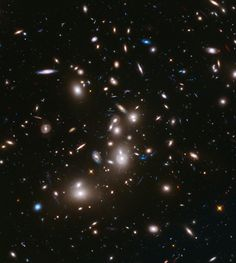 "Massive galaxy cluster Abell 2744, first of Hubble's ambitious ""Frontier Fields"" project, will show some of the faintest and youngest galaxies ever detected. http://hubblesite.org/newscenter/archive/releases/2014/01/"