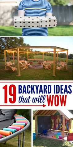 Get creazy with these DIY backyard projects and ideas - my yard will be awesome!
