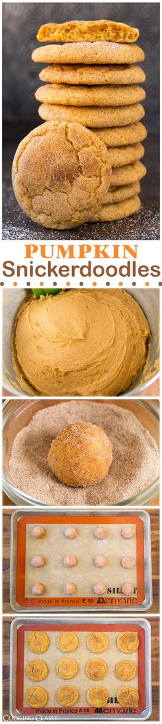 Pumpkin Snickerdoodles - these are definitely a new favorite cookie! Soft, chewy…