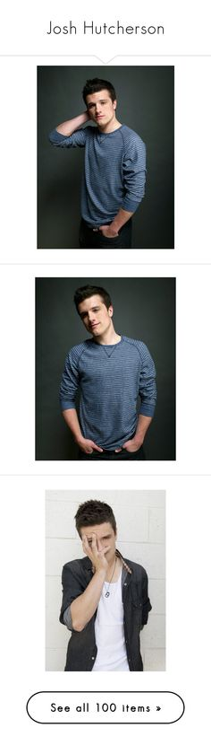 """""""Josh Hutcherson"""" by lghockey ❤ liked on Polyvore featuring josh hutcherson, boys, people, celebrities, guys, images, hunger games, josh, pictures and icons"""