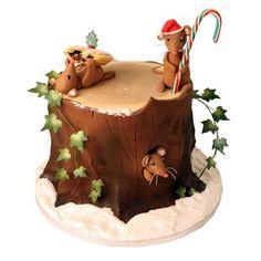 Woodland Christmas cake