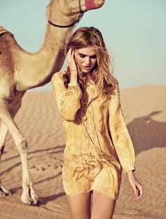 Milou Sluis is a Desert Princess for Eurowoman June 2013 by Jonas Bie | Fashion Gone Rogue: The Latest in Editorials and Campaigns