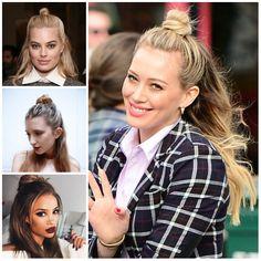 Acconciature Half Bun ispirate agli anni  90 per i capelli lunghi 2019 b42f973fd925