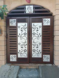 Home Gate Design, Gate Wall Design, Grill Gate Design, House Main Gates Design, Balcony Grill Design, Front Door Design Wood, Steel Gate Design, Front Gate Design, Main Door Design