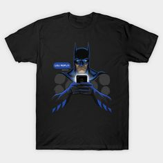 LOL Face T-Shirt - Batman T-Shirt is $13 today at TeePublic!