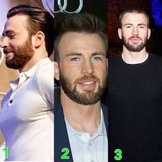 This is how Chris has change his look lately. Choose your favorite look guys!  #ChrisEvans #CaptainAmerica #TeamCap #CivilWar #teamcevans #IronMan #BeforeWeGo #Movie #Like4Like #Follow #WinterSoldier #SebastianStan #StandWithCap #TogetherWeStand #DividedWeFall #Falcon #scarlettwitch #Beard #DoritosGuy #Avenger #TheFirstAvenger