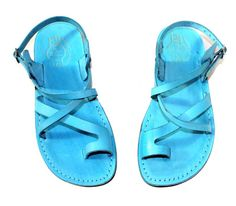 Turquoise Color Sandals | model 6