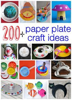 200 + Paper Plate Craft Ideas