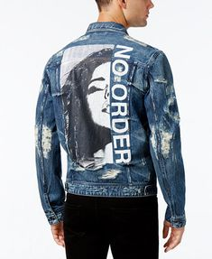 GUESS Men's Dillon Denim Jacket | macys.com