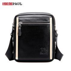 Padieoe Hot sale Men' Shoulder Bag Genuine Cow Leather Messenger ...