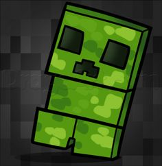 How to Draw a Chibi Minecraft Creeper, Step by Step, Chibis, Draw Chibi, Anime, Draw Japanese Anime, Draw Manga, FREE Online Drawing Tutorial, Added by Dawn, December 20, 2013, 5:54:53 pm