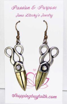 Stylist / Barber Earrings ~ ShoppingBuyFaith.Com Got me a pair of these love them!!