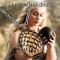Get this Game of Thrones Dragon Egg Necklace and let the world know you're a GoT fan! Dragon Eggs are one of our most popular pieces, and we admit we love them so much because of Daenerys Targaryen on