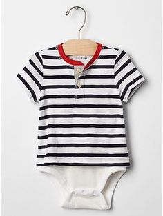 Stripe henley body double | Gap