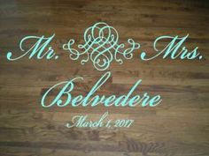 Personalized Family Name And Monogram Wall DecalWall Lettering - Monogram wall decals wood