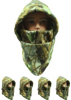 real tree camouflage fleece winter ski mask Case of 72
