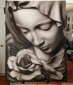 . Chicano Tattoos, Chicano Art, Body Art Tattoos, New Tattoos, Sleeve Tattoos, Cool Tattoos, Christ Tattoo, Jesus Tattoo, Tattoo Sketches