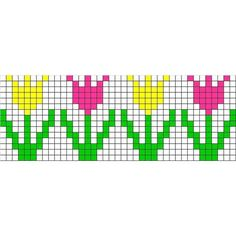 Free cross stitch pattern - 127. Tulips found on Polyvore